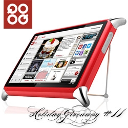 NOTCOT Holiday Giveaway #11: QOOQ! The french kitchen proofed cooking tablet filled with chef secrets is here in the US now - and you can win this special device and a 3 month subscription!