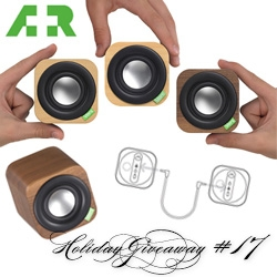NOTCOT Holiday Giveaway #17: A+R! They are giving away the kickstarter superstar of a Vers 1Q wooden bluetooth speaker cube!