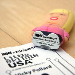 Limited Edition HBO Mimobots are the latest toy collaboration, and playful press release format? Here's one from the new show Little Britain USA!