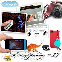 NOTCOT Holiday Giveaway #27: Photojojo! Chance to win a bundle consisting of 4GB Eyefi, the Cell Lens Pouch (pouch w/ three lenses), Easy Macro Lens Band, Seat Belt Camera Strap, Photoshop magnets, and a Light Paint Can.