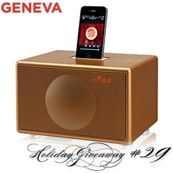 NOTCOT Holiday Giveaway #29: Geneva Sound Systems. 2 winners will receive a super Special Gold Edition Model S!
