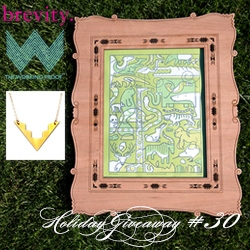 NOTCOT Holiday Giveaway #30: The Working Proof & Brevity Jewelry & Sub-studio. Chance to win Aztec Necklace and Animal Medley by bee things print with a decorative wood frame designed by Sub-Studio and made by NOTlabs!