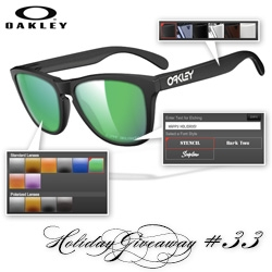 NOTCOT Holiday Giveaway #33: Oakley! Here's a chance to win your own customized Oakley Frogskins!