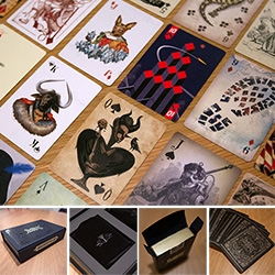 Stranger & Stranger Ultimate Deck - they've branched out from stunning alcohol packaging quite a bit this year, and to celebrate, you must see this incredibly detailed, gorgeous deck of cards... ambigram, skull seals, and more!