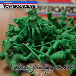NOTCOT Holiday Giveaway #34: Toy Boarders! Chance to win one of 5 packs of Toy Boarders series 2! Fun skateboarder versions of the classic green plastic army men!