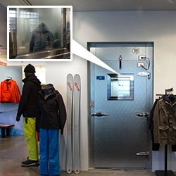 Aether Apparel's new Los Angeles Outpost has a commercial freezer set to 9 degrees in it so you can properly test the jackets even when it's 80 degrees outside! Here's a peek into the new store in the front of their HQ.