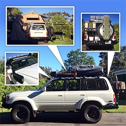 NOTFZJ80 Project: Part IV! It's back from the shop = new brakes, suspension, rear bumper, etc. And we've gotten the awning up, annex under the rooftop tent, snorkel drilled in, 20,000 lumen LED light bar up and rear bumper filled!