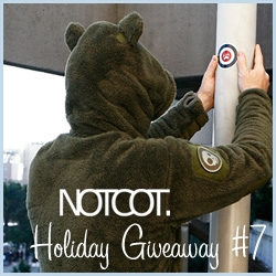 NOTCOT Giveaway #7: Rocket World is giving away one of its latest Shag Master Creature Hoodies ~ part super hardcore technical fleece, part non-committal furry - with velcro on ears and horns!