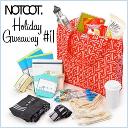NOTCOT Holiday Giveaway #11: Delight's ultimate eco-bundle of goodies! Including I Am Not A Paper Cup, Twist sponges with packaging that turns into bird feeders, reusable bags of multiple sorts, and much more!