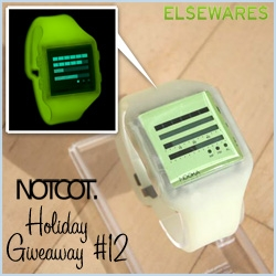 NOTCOT Holiday Giveaway #12: Elsewares is giving away one Nooka Glow Zub Zen H watch! The one that was originally made in a batch of 15 just for Kanye West... it Glows In The Dark!!!