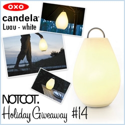 Oxo is giving away one of the large Candela Luau Lanterns! Rechargable, beautiful design, and incredibly bright and gorgeous for creating that perfect ambiance... I love the way it looks outdoors especially!