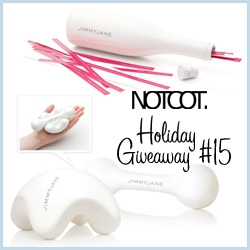 NOTCOT Holiday Giveaway #15! jimmyjane are offering 3 lucky winners some of their gorgeous, playful, pleasure filled games and massager sensory gift sets - perfect for sharing!