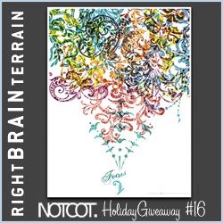 NOTCOT Holiday Giveaway #16: Right Brain Terrain makes the most incredible Alternative Motivational Posters - they are giving away 5 pairs of Focus & Integrity ~ we all need a bit of both!