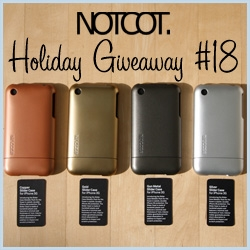 NOTCOT Holiday Giveaway #18: Incase is giving one winner a VIP Boxed Set of 4 Metallic Slider Cases for the iPhone 3G in Silver, Gun Metal, Gold, and Copper ~ so so gorgeous. I love them all.
