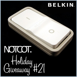 NOTCOT Holiday Giveaway 21! Belkin Conserve Surge Protector ~ i love the giant remote switch (wall mountable even!) ~ and it helps cut down on your electric bills and save some energy!