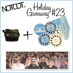 Back to back giveaways today! NOTCOT Holiday Giveaway #23 ~ Reform School is giving away one black viewmaster with a set of Vladmasters of your choice! Vladmaster = artistic handmade viewmaster reels!