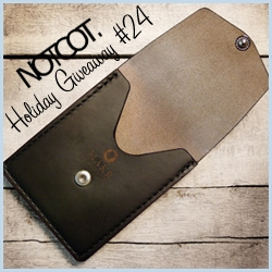 NOTCOT Giveaway #24 ~ Makr is giving away one of their handcrafted leather wallets ~ the Black Tonal Plaid Vertical Pocket to be exact!