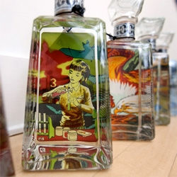 Tequila, as art? Here's a closeup with the 1800 Tequila Essential Artists Bottles ~ and if you thought they were cool on billboards, they will blow your mind even more when you see them in person!