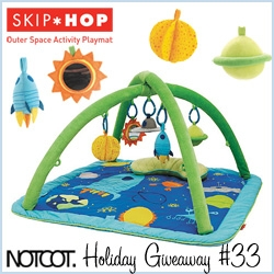 NOTCOT Holiday Giveaway #33: This Skip Hop Outer Space Playmat for babies is the awesomest ufo/rocket/planetary playmat i've seen ~ and its a Babies'r'us exclusive and ridiculously cute!