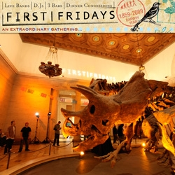 Los Angeles Natural History Museum stays open late on First Fridays ~ and offers patrons a dose of discussion, live music/djs, food/wine, and a chance to explore after hours! Amazing lighting, surreal experience... The Bird and The Bees rocked!