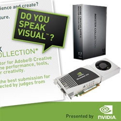 New contest!!! And first of three chances to win the NVIDIA Quadro CX graphics accelerator and CS4 Master Suite in this art contest NVIDIA has sponsored for NOTCOT, Core77, and Behance!