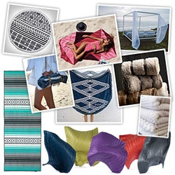 NOTCOT Beach Blankets & Towels Gift Guide! Some of my favorites as well as a few i'm tempted to gift (or buy myself!)... ideas for laying out at the beach, having a picnic, being cozy camping or just by the fire (outside or on the couch!).