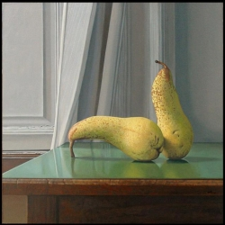 Painter Tim O'Kane's hyper-realistic still lifes are always unexpected and sometimes not a little erotic...