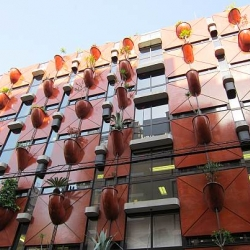 Completed in 1993, Gaetano Pesce's Organic Building in Osaka Japan may in fact be a precursor to the modern day living wall.