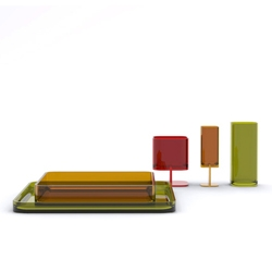 New fynky table ware in coloured glass. Designed By Petter Knudsen
