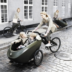 The trioBike is simply art, and considering a world where gas prices are hitting way beyond the roof, a great alternative to the family buggy over small distances.