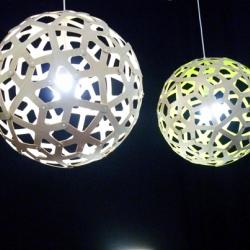 "David Trubridge has unveiled a gorgeous set of flatpack LED ""Icarus"" lamps at Milan Design Week."