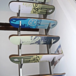 The skateboard stairway is a really cool idea from Marc in Stuttgart.