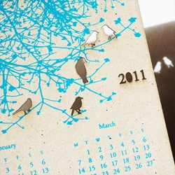 Turquoise 2011 Birds Calendar by Tinted Mint.