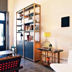 """The SR Bookcase is made to order and available as a 1, 2, or 3 bay system. Standing 7'-8"""" tall, the SR Bookcase will surely be a signature piece in any living space or office. From Scout Regalia."""