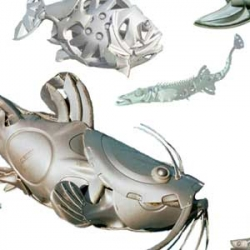 Hubcaps Creatures by Ptolemy show an aesthetic art, the designer create a great art from unused objects. With a little effort and imagination, the designer from Hubcaps Creatures transform them into something which gives people a great deal and more pleasure