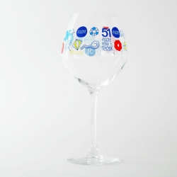 """Piscine"" glasses, for the french alcohol brand Pastis 51.  Illustration by SiaoBé."