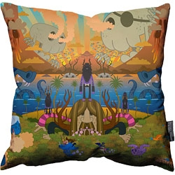 Limited Edition pillow from much loved Welsh artist Pete Fowler - welcome to Monsterism Island!