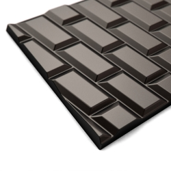 The studio NOIR VIF created - with the chocolate maker Jacques Bockel - the Petits carreaux de Paris, a chocolate with design inspired by the subway wall...
