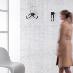 PJ02 by Propellerjack is a coat hanger and coat hook at the same time, with a magnetic device for easy wall fixation. it can be beautifully arranged on the wall giving the impression of an art installation.