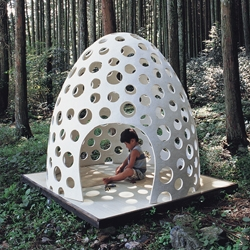 You don't have to be a kid to want to have one of  Kazuya Morita's concrete pod.