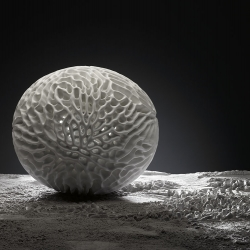 "Sculpture out of corian by Tomas Medek, sculpture from ""pollen"" series. Pollen IV will be exhibited at this year's Milano Design Week within Jannelli & Volpi in the showrrom ""J&V Store""."