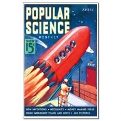 Vintage Popular Science cover art....soooo Buck Rogers