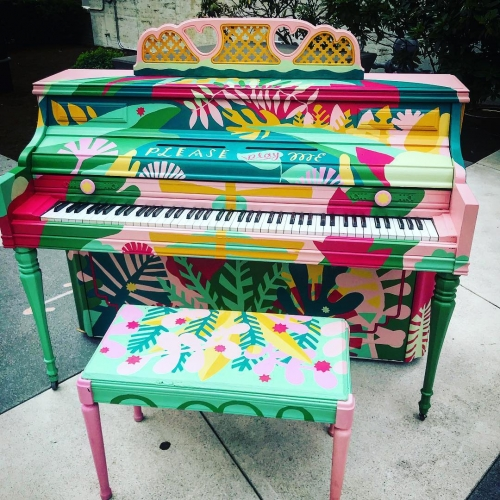 Piano. Push. Play. is distributing pianos painted by local artists all around Portland again. May your summer be filled with spontaneous public jam sessions…