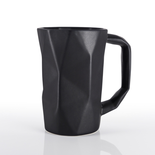 (E)scamol Taza Prisma - Stoneware mug inspired in origami art - 17oz (500 ml)