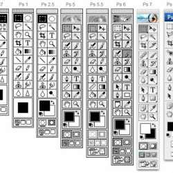 From this image, you can find how Photoshop developers change main tool panel. PS.87 to PSCS3