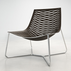 York Lounge Chair - A laser cut chair made from a single piece of leather. From furniture designer Marcelo Ligieri.