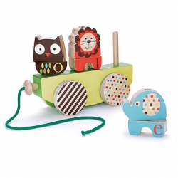 The Owl, the Lion and the Elephant get some wheels! Wooden toys for Skip Hop by Sandra Isaksson.