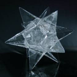For our 2009 Christmas card a 50cm² twelve pointed Moravian star, hand carved from ice was left to melt over 15 hours. We documented this process with Polaroid film and sent the results out as cards to our friends.
