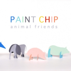 If you've got a few paint chips laying around, your little ones will enjoy an afternoon of play with these little animal amigos.