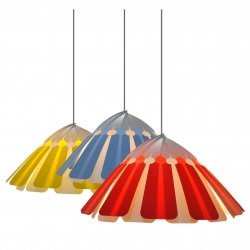 Palm is a self assembly lampshade consisting of 22 individual leaves that hook onto any pendant light fitting and simply link together. Available in 6 colours and 100% recyclable, Palm is also flat packed for efficient transport.
